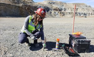 In northern Nevada, Rue Beyer helps create three-dimensional models of gold deposits in order to mine efficiently.