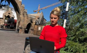 Olivia West is making her dream a reality by writing the stories for the new Universal Studios in Beijing opening in 2020.