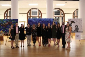 The Marine Science Club at the opening gala.
