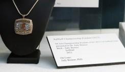 NCAA Championship Pendant of the 2012 UA Softball team, presented to Judy Bonner.