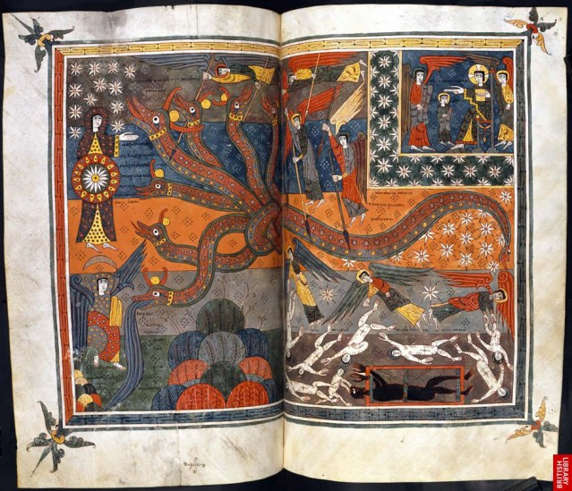 illustration of the apocalypse in a medieval book