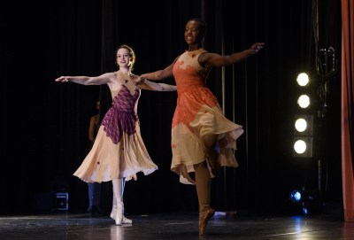 two dancers performing on stage