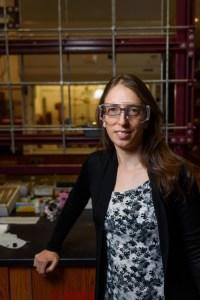 Dr. Elizabeth Papish in her lab.