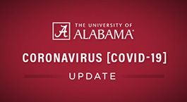The University of Alabama, Coronavirus (COVID-19) Update