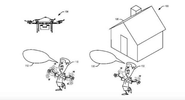 La nueva patente Amazon para sus drones repartidores