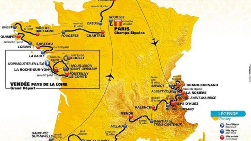 Tour de Francia 2018: etapas, perfiles y recorrido
