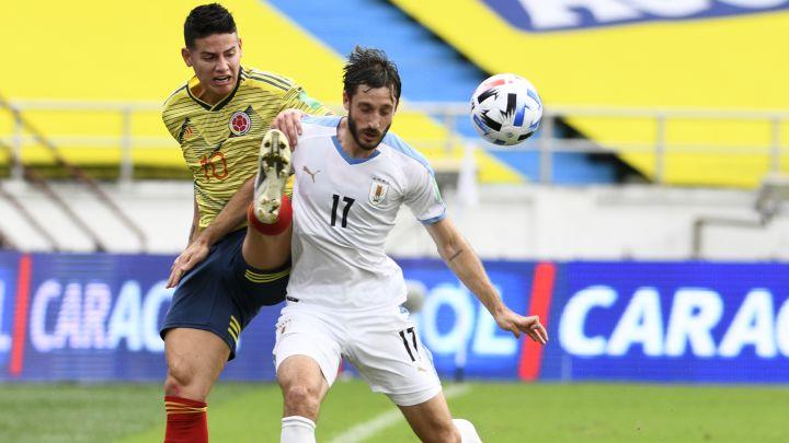 James Rodríguez contra Uruguay en el Metro