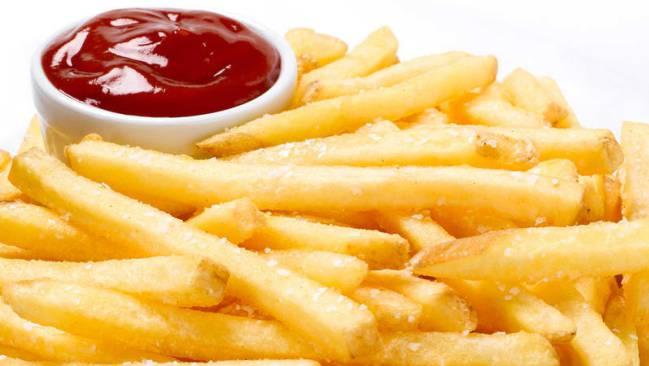Patatas fritas, prohibidas en definición.
