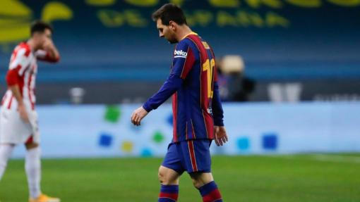 Barca boss Koeman defends Messi after red card in Supercopa loss