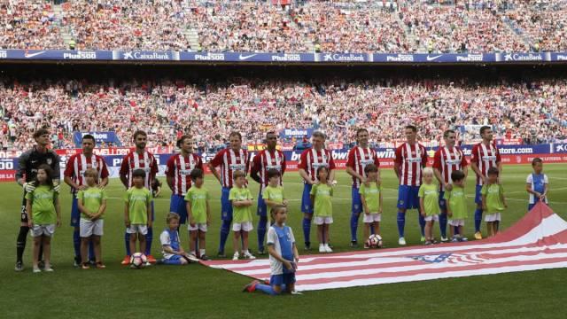 El once inicial del Atlético en su Final de Leyenda, con Gabi, Forlán, Torres, Perea, Antonio López...