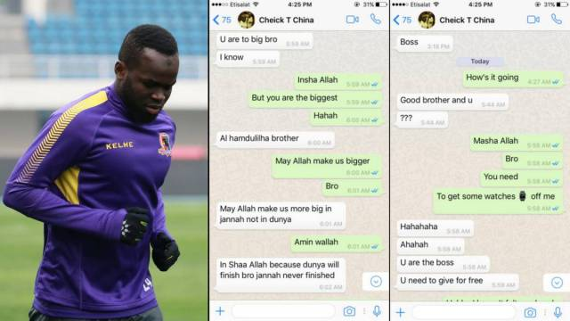 Cheick Tioté's final What's App conversation shared on Twitter