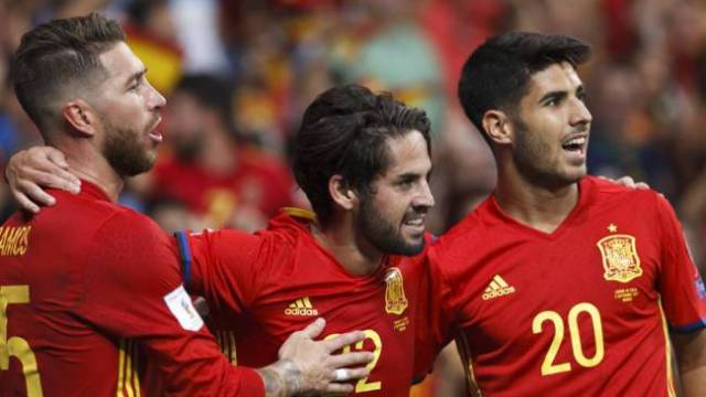 Ramos, Isco and Asensio.