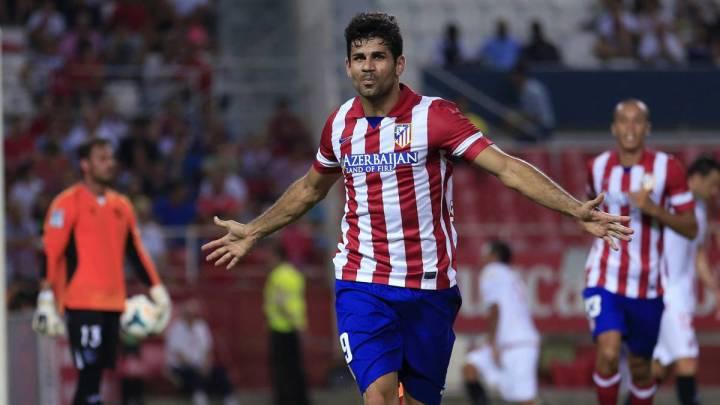 Diego Costa esulta durante la sua prima stagione all'Atlético | Numerosette Magazine