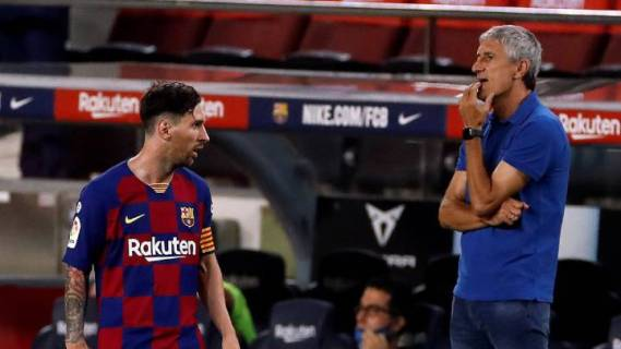 Barcelona: Messi points Setién to the Camp Nou exit door - AS.com