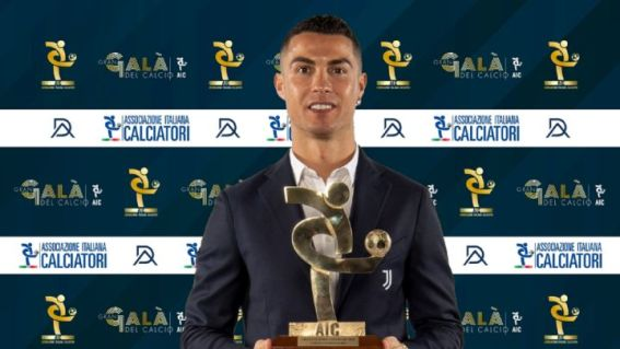 Cristiano Ronaldo named Serie A player of the year for 2020