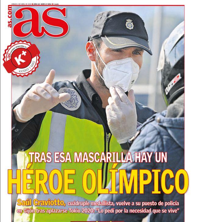 Un multi-medallista de patrulla.  Craviotto ganó dos medallas de oro, una de plata y una de bronce en los Juegos, pero estuvo en el servicio de policía de Gijón.