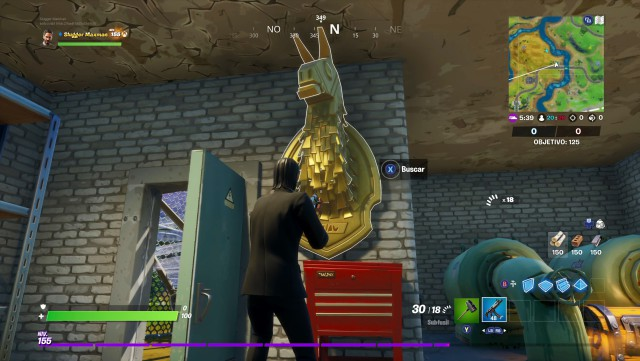 fortnite chapter 2 season 2 challenges mission of midas challenge seeks the flame gold of midas between a dump station and a camp for campers