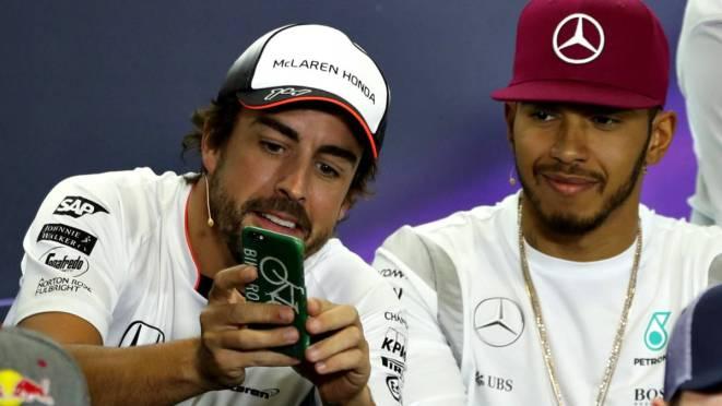 Risultati immagini per Hamilton Alonso Raikkonen
