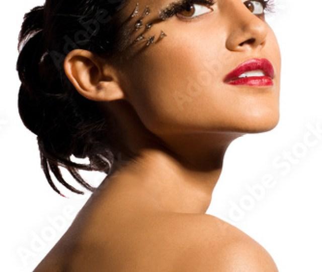 Beauty Portrait Of Desi Beauty With Unique Makeup