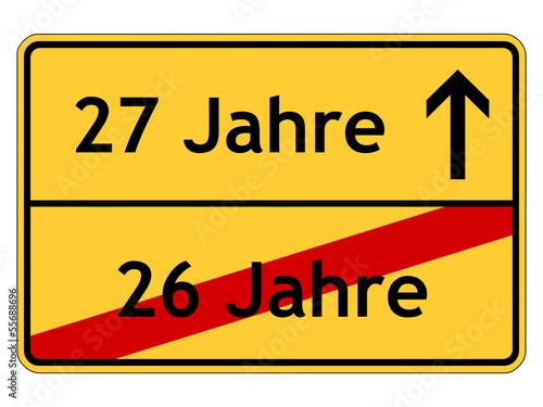 Einladungskarten 27 Geburtstag