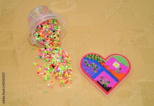 Bugelperlen Herz In Herz Basteln
