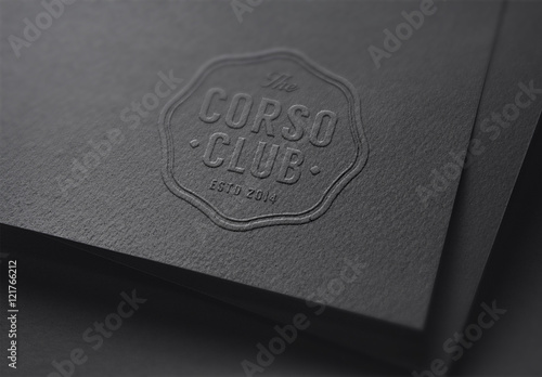 Embossed Logo Mockup On Dark Paper Buy This Stock Template And Explore Similar Templates At