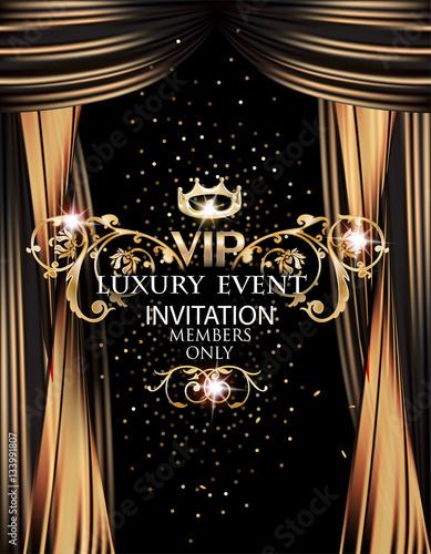 vip elegant luxury event invitation