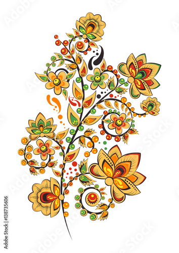 Pattern With Russian Folklore Vector Clipart
