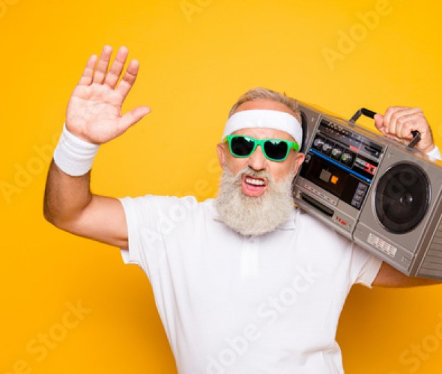 Cheerful Excited Aged Funny Sexy Gangster Cool Grandpa