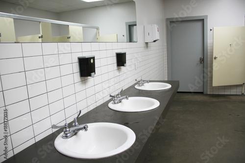 industrial bathroom sink design stock