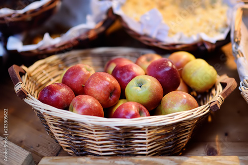 Apple store   Grenoble  France   photo page   everystockphoto Apple store   Grenoble  France  Adobe Stock  Fresh bio apples in straw  basket on farmer market in Strasbourg  France