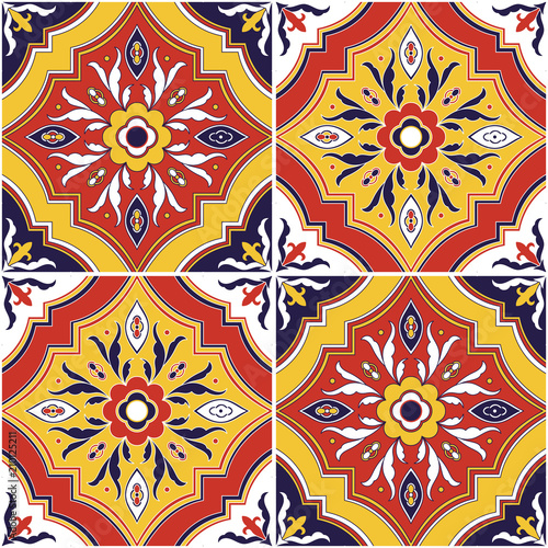 https stock adobe com images spanish tile pattern vector seamless with ornaments portuguese azulejo mexican talavera italian sicily spain majolica tiled texture background for ceramic kitchen wall or bathroom mosaic floor 210125211 start checkout 1 content id 210125211