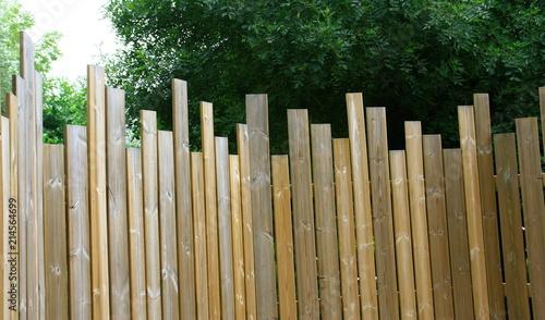 palissade en lames de bois brise vue