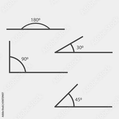 90 degrees vector illustration