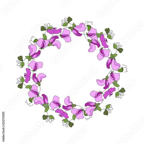 Fl Elements Of Sweet Pea Flowers