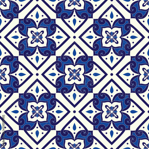 https stock adobe com images mexican tile pattern vector seamless with ornaments portuguese azulejos mexico talavera italian sicily majolica spanish or delft dutch motifs mosaic background for wallpaper or ceramic floor 230382492 start checkout 1 content id 230382492