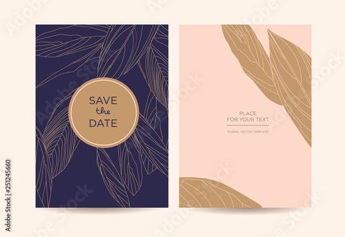 modern elegant invitation golden
