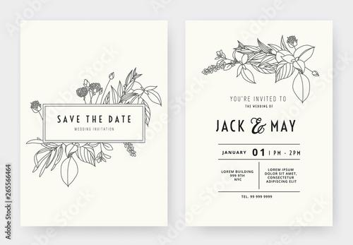 minimalist wedding invitation card