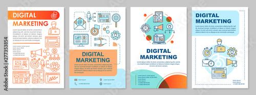 Digital Marketing Brochure Template Layout Smm Targeting