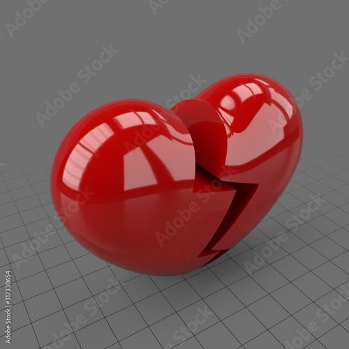 Broken Heart Buy This Stock 3d Asset And Explore Similar Assets At Adobe Stock Adobe Stock