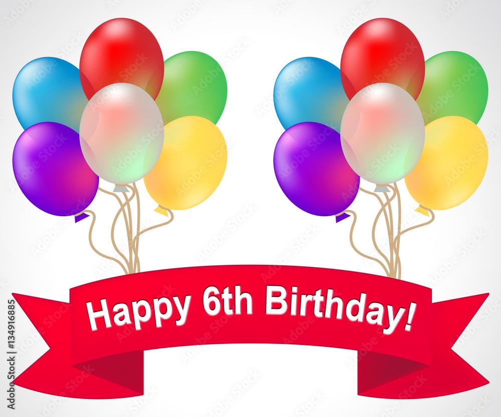 20 Best Happy 6th Birthday Images Stock Photos Vectors Adobe Stock
