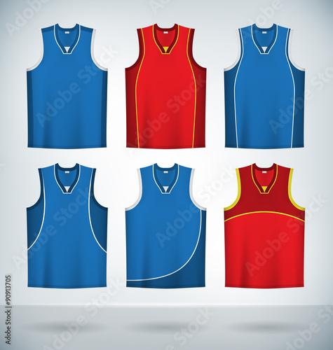 Download Basketball Jerseys Temlplates Set Mock up - Buy this stock ...
