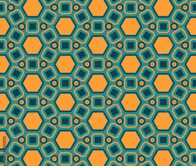 Vector Modern Seamless Colorful Geometry Pattern Color Yellow Blue Abstract Geometric Backgroundwallpaper Print