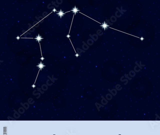 Horoscope Constellation Star Abstract Space Night Sky Background With Stars And