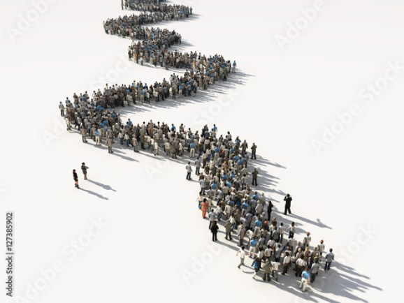 group of people waiting in line - Buy this stock illustration and explore  similar illustrations at Adobe Stock | Adobe Stock