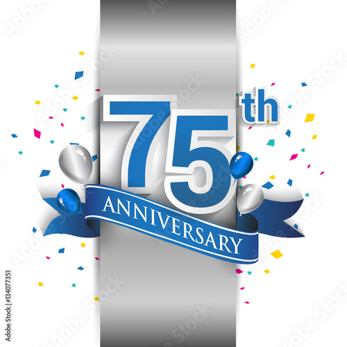 75th anniversary logo with silver label