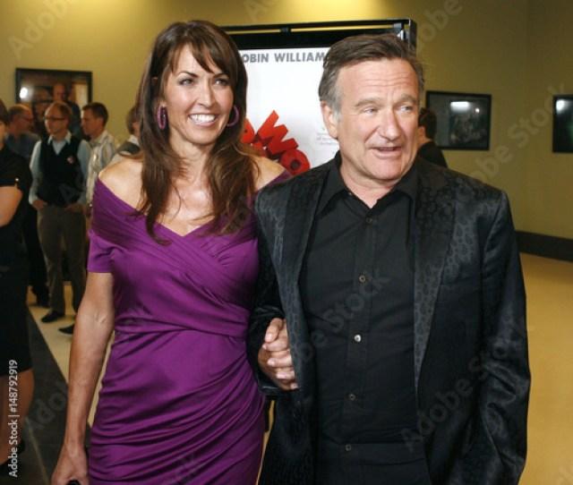 Actor Robin Williams Star Of The Film Worlds Greatest Dad Escorts Susan Schneider