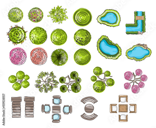 Landscape Design Graphics Symbols