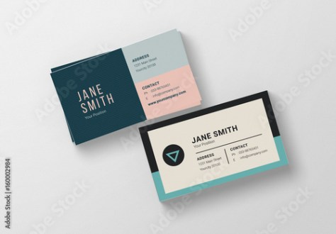 Two Minimalist Business Card Layouts   Buy this stock template and     Two Minimalist Business Card Layouts