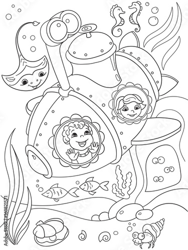 submarine coloring pages # 34